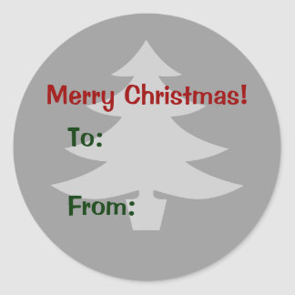 Merry Christmas gift label Round Stickers