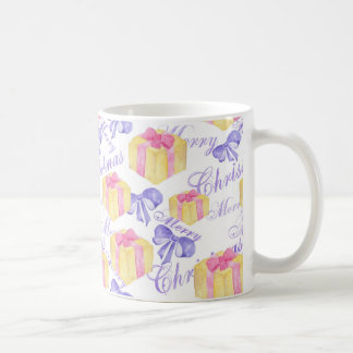 Merry Christmas Gift Pattern Coffee Mug