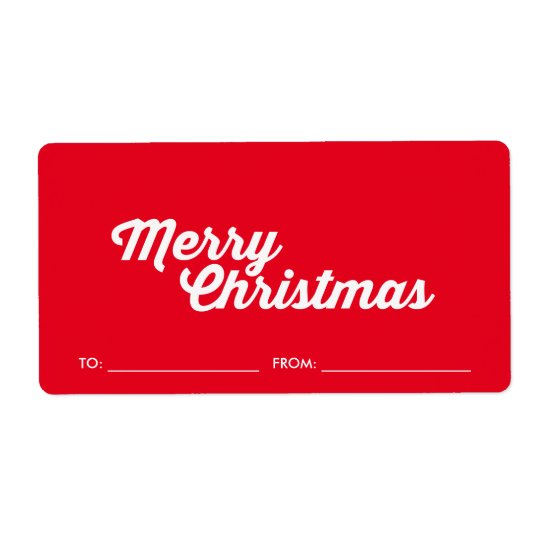 Merry Christmas gift stickers Shipping Label