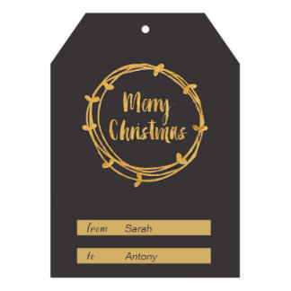 Merry Christmas Gift Tag 13 Cm X 18 Cm Invitation Card