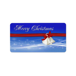 Merry Christmas Gift Tag Address Label