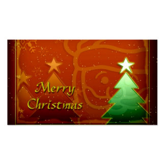 Merry Christmas Gift Tag Pack Of Standard Business Cards