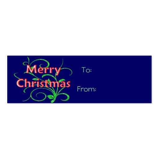 Merry Christmas Gift Tag Business Cards
