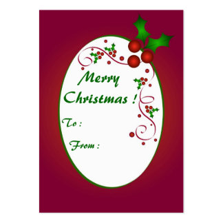 Merry Christmas - Gift tag card Pack Of Chubby Business Cards