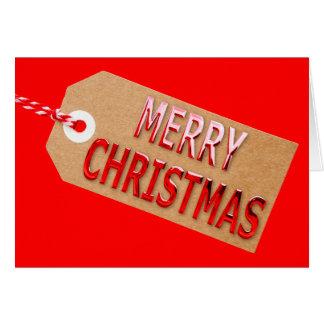 Merry Christmas Gift Tag Greetings Card