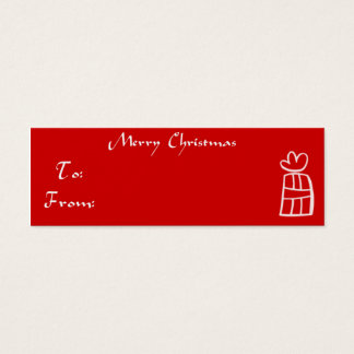 Merry Christmas Gift Tag Mini Business Card