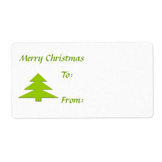 Merry Christmas Gift Tag Shipping Label