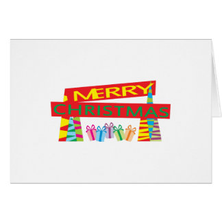 Merry Christmas Gifts Invitation Postage Label Art Card