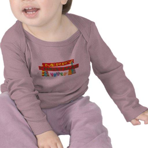 Merry Christmas Gifts Kids Baby Shirts Jackets Bib