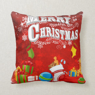 Merry Christmas Gifts Pillow Throw Cushions