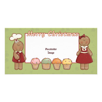 Merry Christmas - Gingerbread Girl and Boy Card