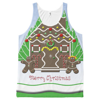 Merry Christmas Gingerbread House All-Over Print Tank Top