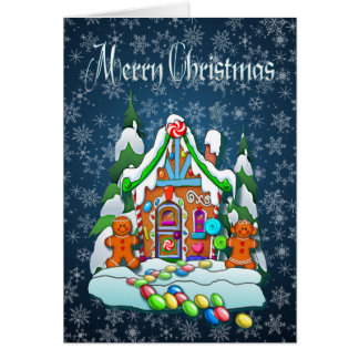 MERRY CHRISTMAS GINGERBREAD HOUSE by SHARON SHARPE Card
