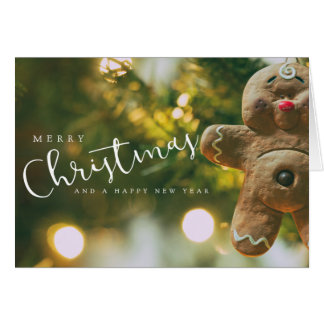 Merry Christmas - Gingerbread Man Card