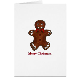 Merry Christmas Gingerbread Man Cookie Cards