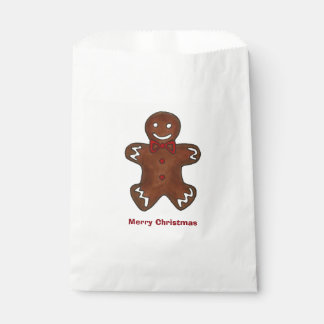 Merry Christmas Gingerbread Man Cookie Xmas Bag Favour Bags