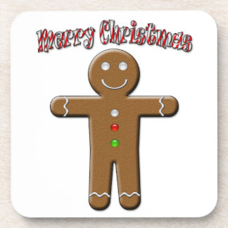 Merry Christmas - Gingerbread Man Drink Coaster