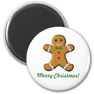 Merry Christmas Gingerbread Man Magnet