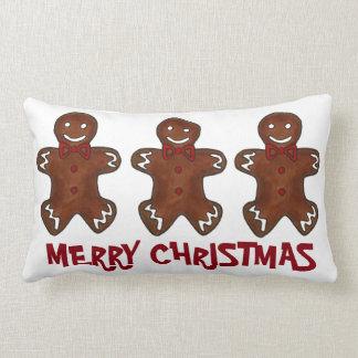 Merry Christmas Gingerbread Men Cookie Pillow