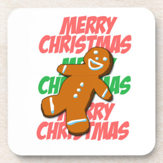Merry Christmas Gingerman Coaster
