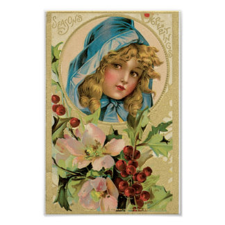 Merry Christmas Girl Poster