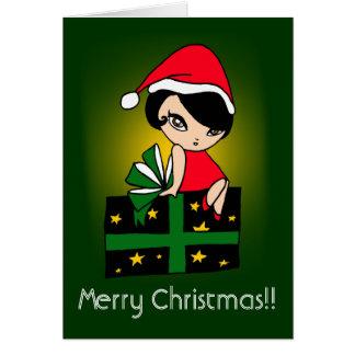 Merry Christmas!! GirlM card (C212)