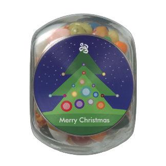 Merry Christmas Glass Jar