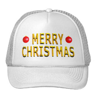 Merry Christmas Gold Cap