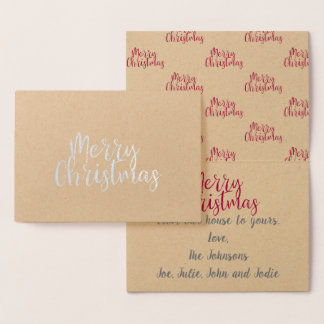 Merry Christmas Gold Foil Greeting Card
