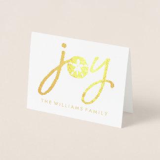 Merry Christmas | Golden Joy Sand Dollar Foil Card
