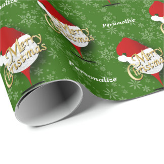 Merry Christmas Golf Ball - DIY Text Wrapping Paper