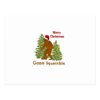 Merry Christmas Gone Squatchin Postcard