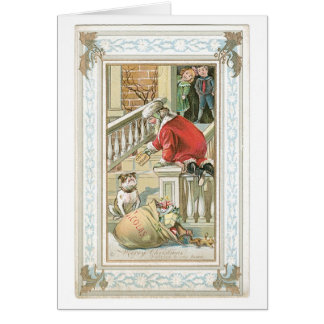 Merry Christmas - Good Boy, Here's a Dog Biscuit! Greeting Card