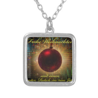 Merry Christmas good slide in the new year Silver Plated Necklace