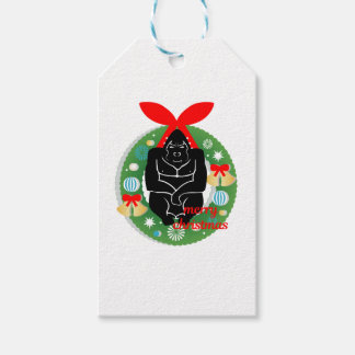 merry christmas gorilla gift tags