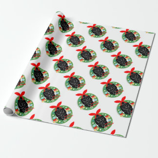 merry christmas gorilla wrapping paper