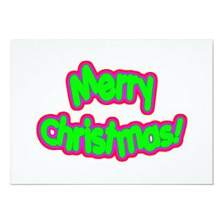 Merry Christmas Gr Mag 13 Cm X 18 Cm Invitation Card
