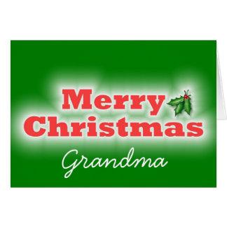 Merry Christmas Grandma Card