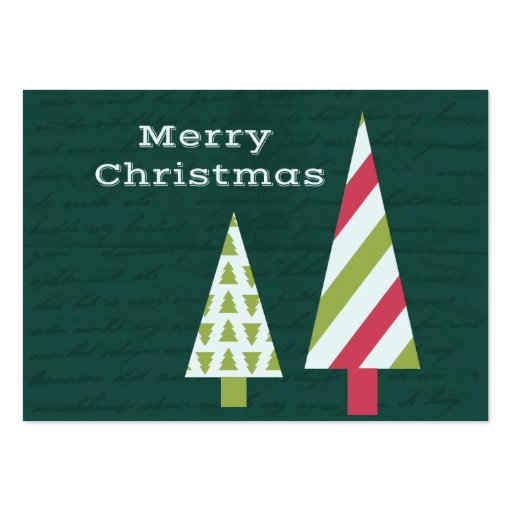 Merry Christmas graphic trees Business Card Template