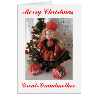 Merry Christmas Great Grandmother Greeting Card