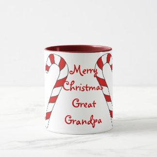 Merry Christmas Great Grandpa Mug by Janz