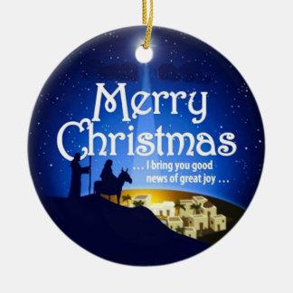 Merry Christmas Great Joy Luke 2:10 Ornament