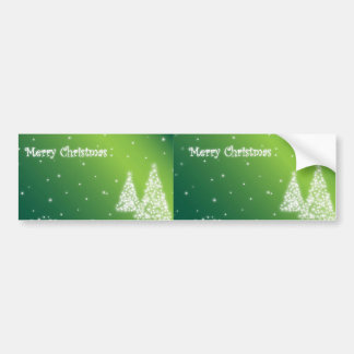 merry christmas green bumper sticker car bumper sticker