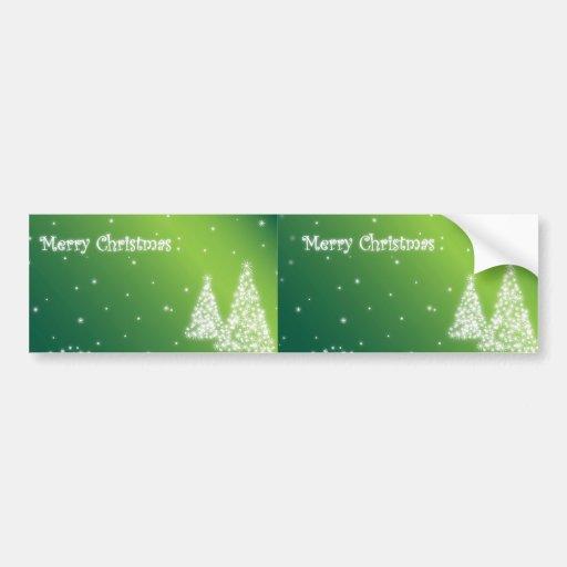 merry christmas green bumper sticker