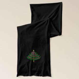 Merry Christmas Green Holiday Christmas Tree Scarf