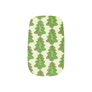 Merry Christmas Green Tree Sugar Cookie Holiday Minx Nail Art