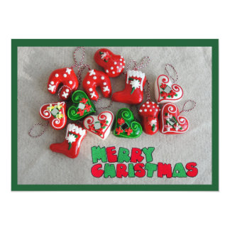 Merry christmas greeting card 14 cm x 19 cm invitation card