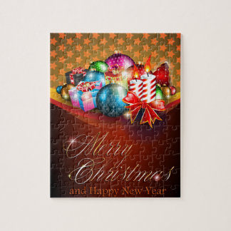 Merry Christmas Greeting Card Jigsaw Puzzle