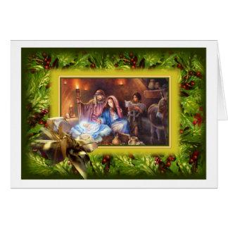 Merry Christmas Greeting Card Ukrainian Design