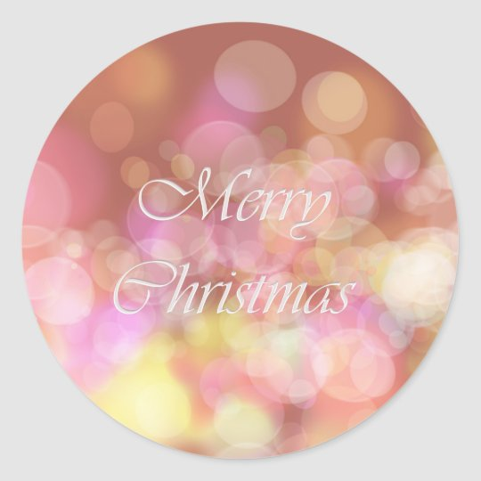 Merry Christmas. Greeting. Classic Round Sticker